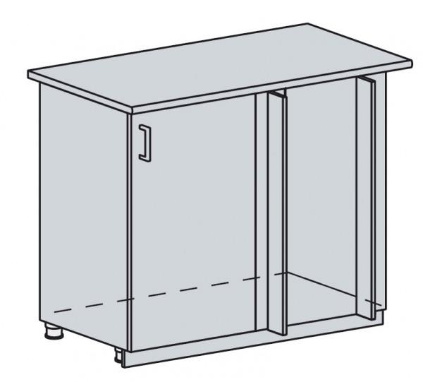 100DRM d. skříňka rohová PRAGA bk/bílá