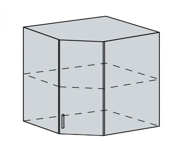 60HR h. skříňka rohová PRAGA bk/wenge