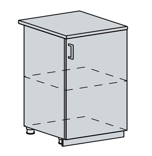 60D1D d. skříňka 1-dveřová PRAGA bk/wenge