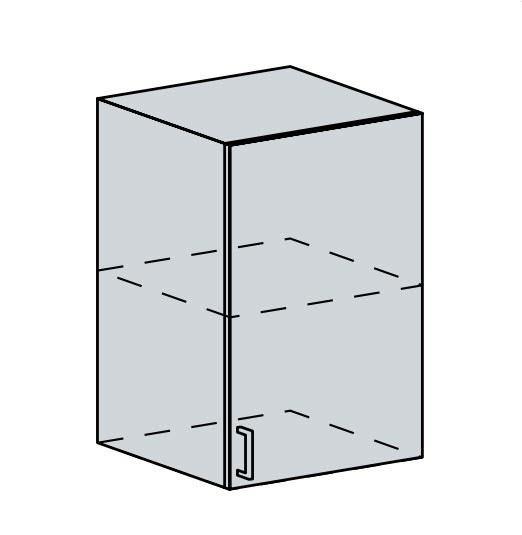 50H h. skříňka 1-dveřová PRAGA bk/wenge