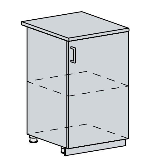 50D d. skříňka 1-dveřová PRAGA bk/wenge