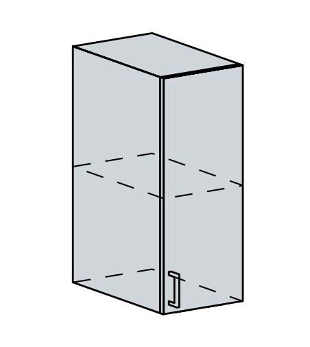 30H h. skříňka 1-dveřová PRAGA bk/wenge