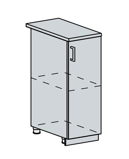 30D d. skříňka 1-dveřová PRAGA bk/wenge