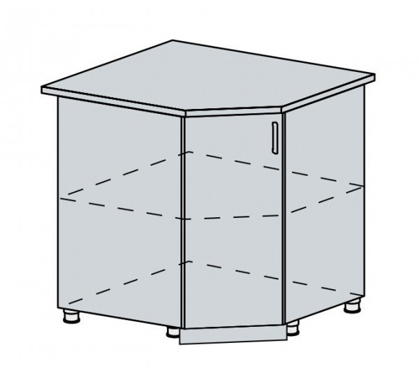 90DRS d. skříňka rohová VERONA jasan šimo