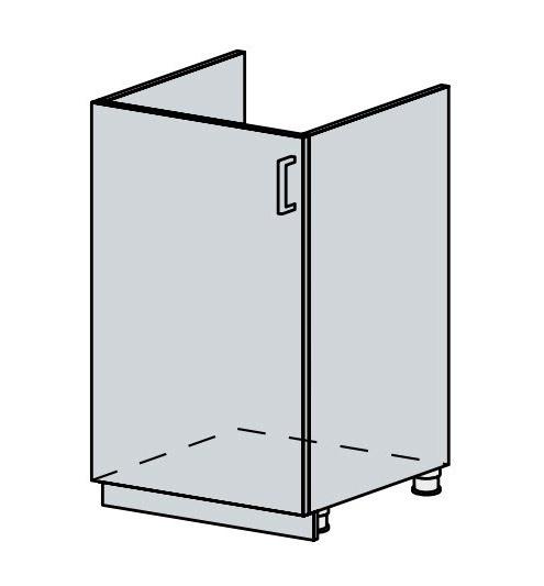 50DZ d. skříňka 1-dveřová pod dřez VERONA jasan šimo