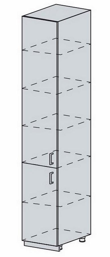 40PV potr. skříň 2-dveřová VERONA jasan šimo