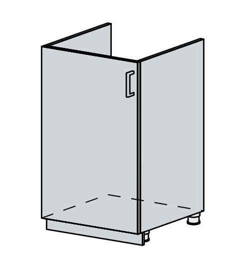 50DZ d. skříňka 1-dveřová pod dřez VERONA zlatý jasan