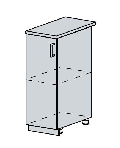 30D d. skříňka 1-dveřová VERONA zlatý jasan