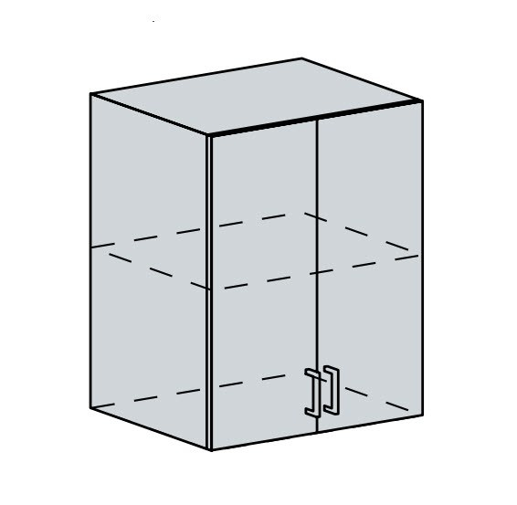 60H h. skříňka 2-dveřová VICTORIE bílý santál