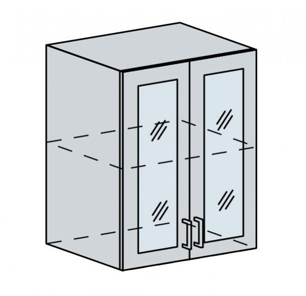 60HS h. vitrína 2-dveřová PROVENCE bílá