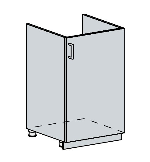 50DZ d. skříňka 1-dveřová pod dřez PROVENCE bílá
