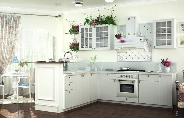 40HS h. vitrína 1-dveřová PROVENCE bílá