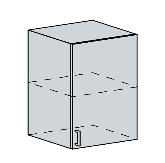 60H1D h. skříňka 1-dveřová PROVENCE světle modrá