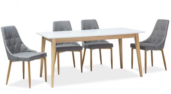 Jídelní stůl rozkládací CESAR 120x68 bílá/dub
