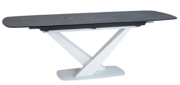 Jídelní stůl rozkládací CASSINO II bílý mat/ceramic grafit