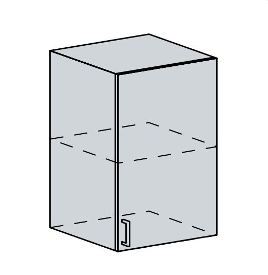 50H h. skříňka 1-dveřová ANASTASIA bříza