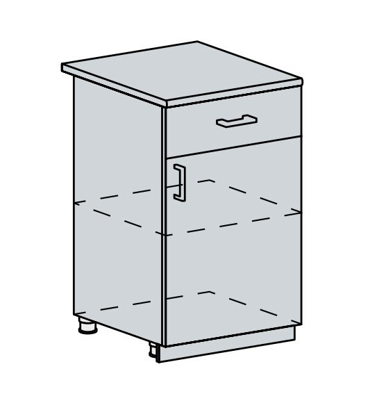 50D1S d. skříňka 1-dveřová se zásuvkou ANASTASIA bříza