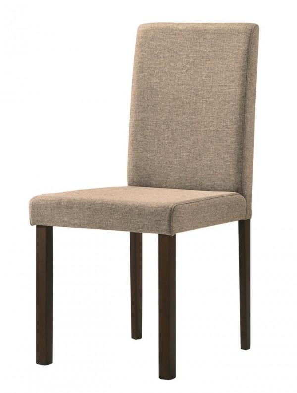 Jídelní čalouněná židle CANNES světle hnědá