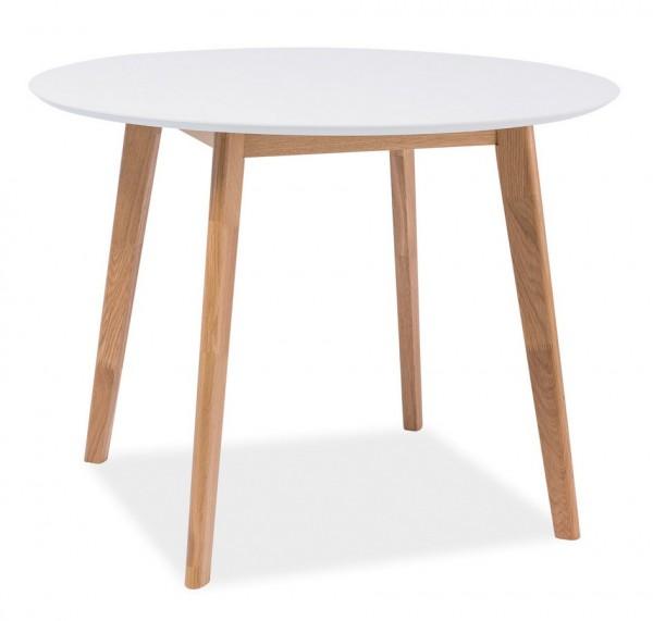Jídelní stůl MOSSO II 100 dub/bílá