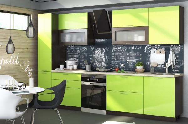 Kuchyně VALERIA 260 wenge/limeta lesk