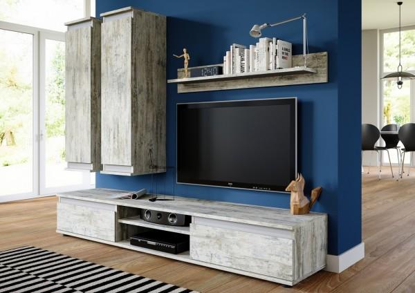 Obývací stěna OHIO bílá borovice