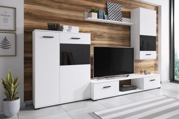 *Obývací stěna SORSO bílá/černá