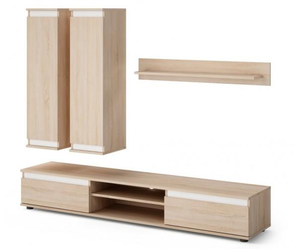 Obývací stěna OHIO dub sonoma/bílá
