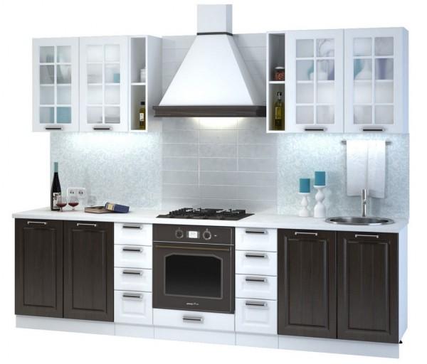 Kuchyně PRAGA 280 II bílá/wenge