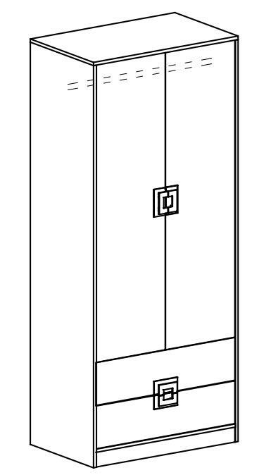 Šatní skříň NIKO 1 dub jasný/bílá