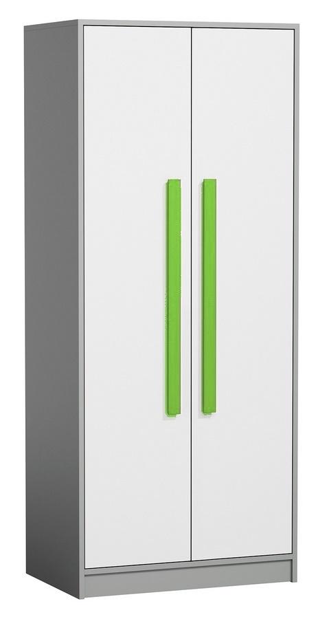 Šatní skříň GYT 1 antracit/bílá/zelená