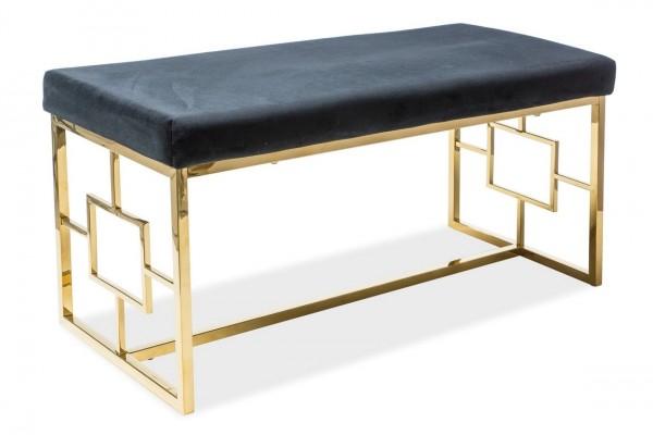 Čalouněná lavice NOIR černá/zlatá