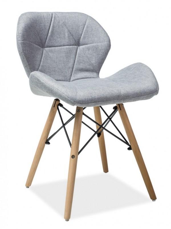 Jídelní židle MATIAS II šedá látka/buk
