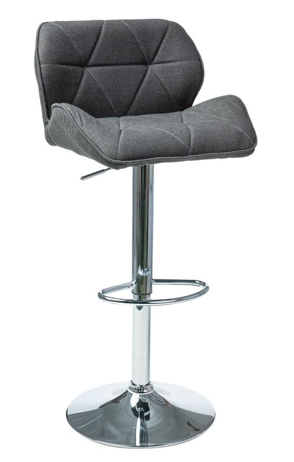 Barová židle C-122 tmavě šedá