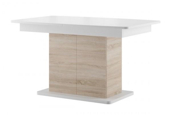 Jídelní stůl rozkládací POLSA 03 dub sonoma/bílá