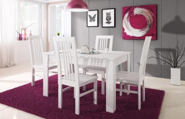 Rozkládací jídelní stůl TIMON bílá