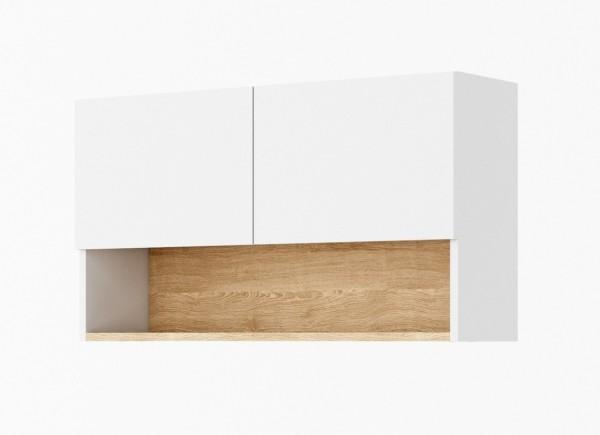 Závěsná skříňka k předsíni 90 CLARO bílá/riviera