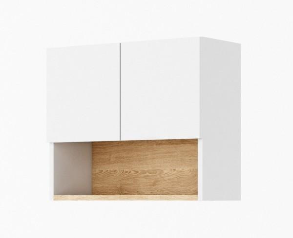 Závěsná skříňka k předsíni 60 CLARO bílá/riviera