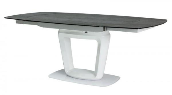 Jídelní stůl CLAUDIO CERAMIC rozkládací šedá/bílá