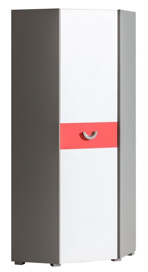 FUTURO F7 rohová skříň grafit/bílá/výběr barev