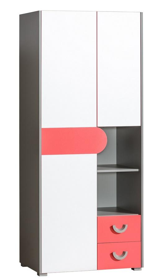 FUTURO F1 šatní skříň grafit/bílá/výběr barev