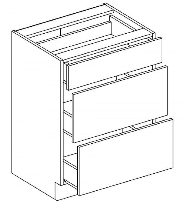 D60/S3 d. skříňka se zásuvkami PALMYRA šedá/mocca
