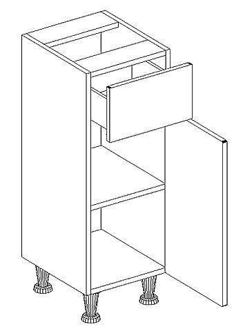 *D30S/1 d. skříňka se zásuvkou ARIEL černá pravá