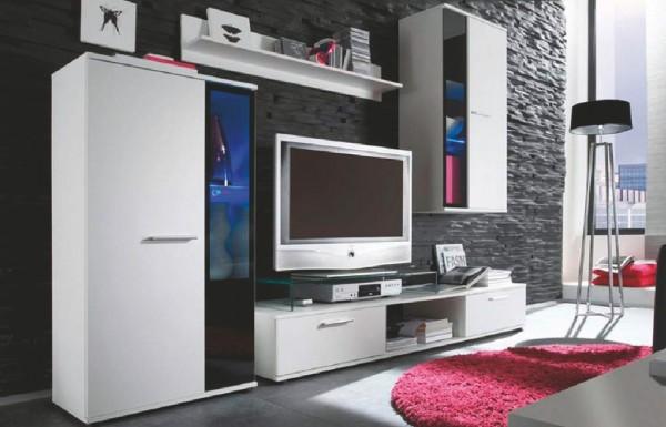 Obývací stěna SALSA bílá mat