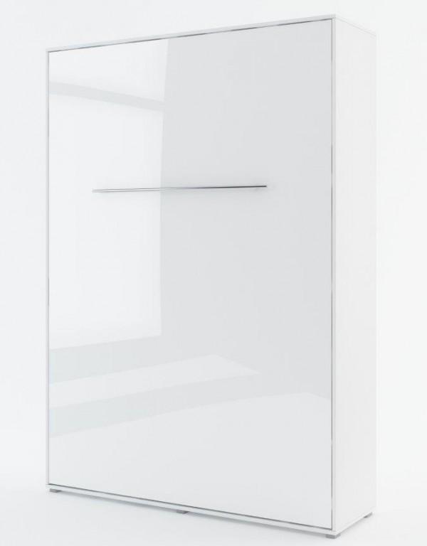 Výklopná postel 140 CONCEPT PRO CP-01P bílá lesk/bílá mat