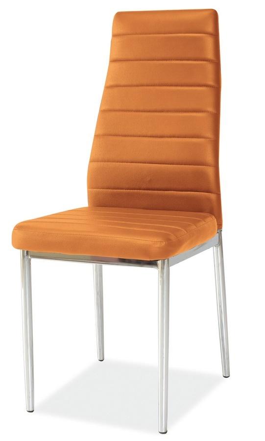 **Jídelní čalouněná židle H-261 oranžová