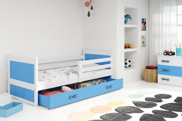 Postel Riky 90x200 bílá/modrá