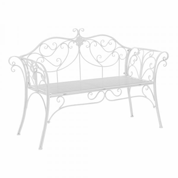 Zahradní lavička, bílá, ETELIA