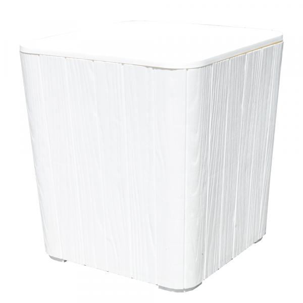 Zahradní úložný box / příruční stolek, bílá, IBLIS