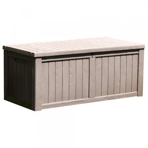 Zahradní úložný box, šedá, BABUL