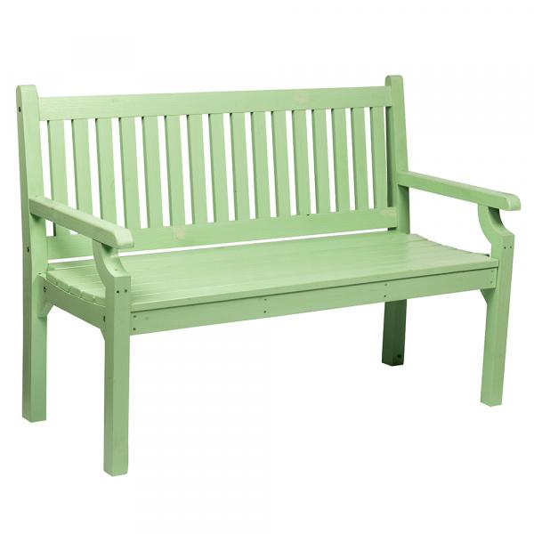 Dřevěná zahradní lavička, neo mint, 150 cm, KOLNA